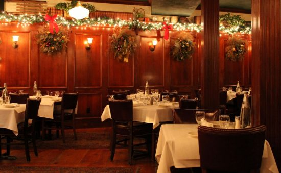 The Bistro decorated for the Holidays